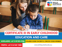 Support children's for their wellbeing  with our certificate 3 in childcare