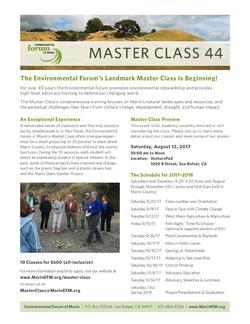 Environmental Forum Master Class 44
