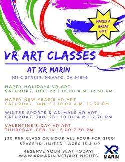 Valentine's Day Virtual Reality Art Class