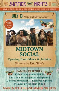 MIDTOWN SOCIAL opens the 2019 Marin Summer Nights Music Series