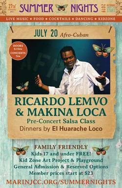 RICARDO LEMVO & MAKINA LOCA bring their Afro-Cuban Beats to Marin Summer Nights