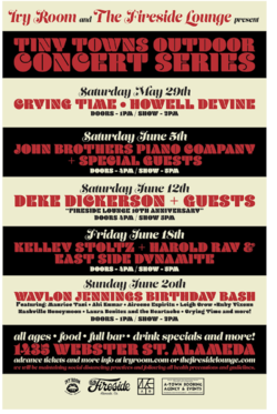 Ivy Room & Fireside Lounge Present Tiny Towns Outdoor Concert Series